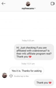 myfreecams is a affiliated with crakrevenue
